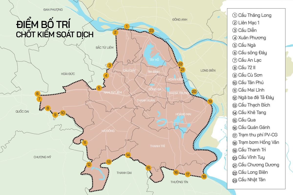 Location 23 is the gateway to Hanoi.  Graphics: Tion's