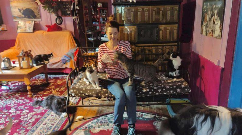 Lauriane Gilliéron est heureuse dans le refuge SOS Chats de Tomi Tomek.