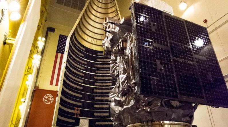Landsat 9 is attached to the Atlas payload shield - spacecraft now