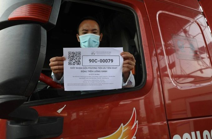 Freight trucks receive QR codes in the software of the Ministry of Public Safety