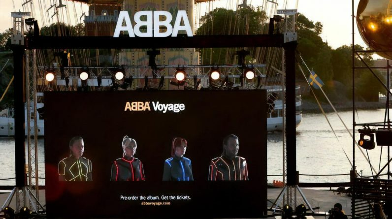 ABBA is displaying their digital copies, which will be staged to replace them during their world tour