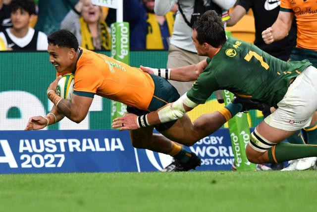 Australia won again against South Africa in the Rugby Championship