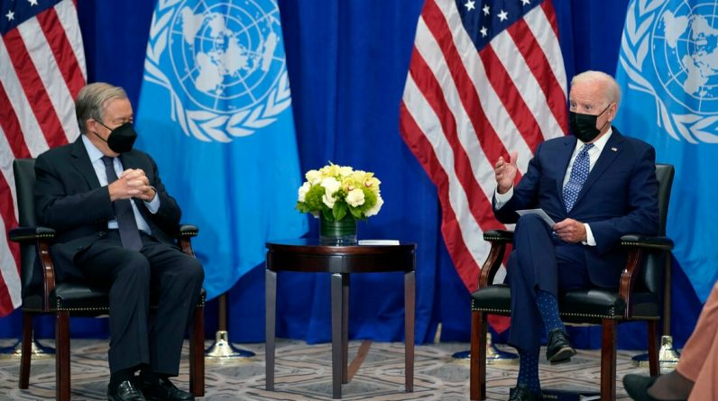 Biden's diversity was tested at the UN