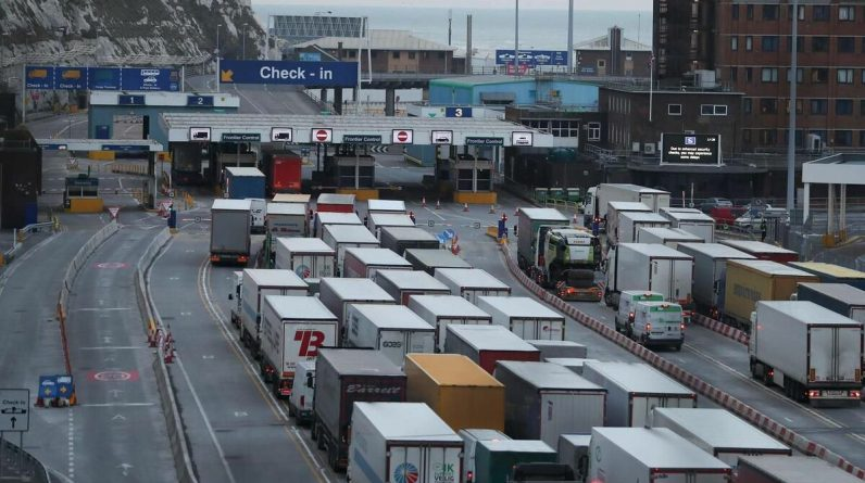 Faced with shortages, London is delaying some restrictions on European borders