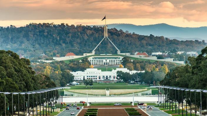 Le parlement australien à Canberra.