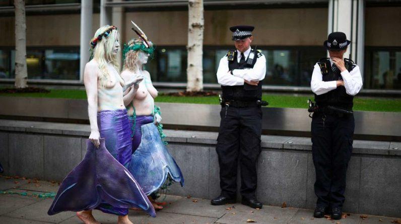 In London, endangered rebel sirens challenge police