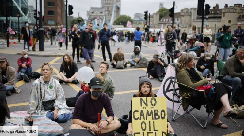 London: The famous Tower Bridge was blocked by environmental activists