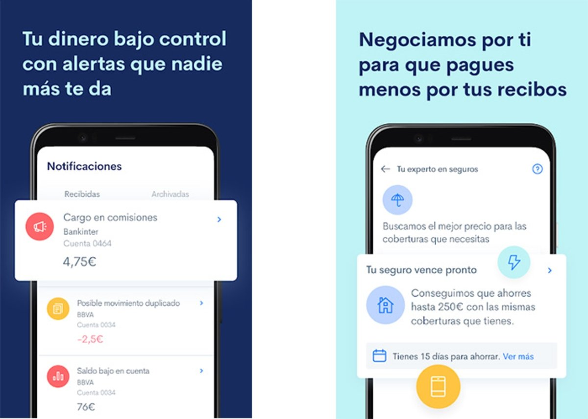 Fintonic is one of the best apps to learn how to save on your mobile