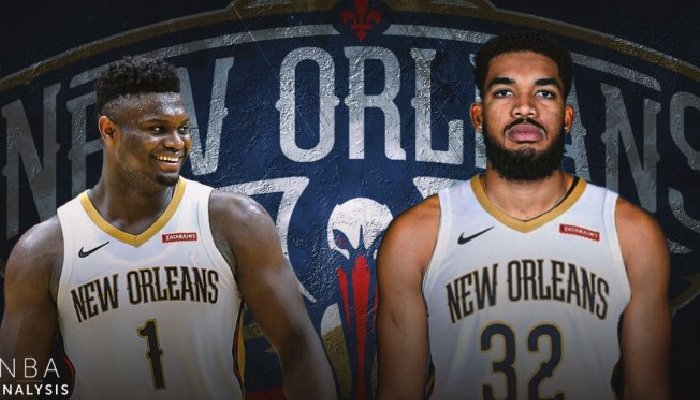 Carl-Anthony Town in Pelicans Jersey
