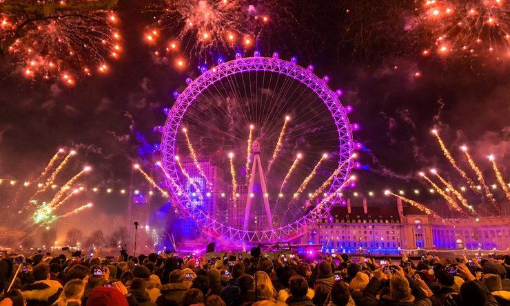 Le feu d'artifice du 31 décembre à Londres
