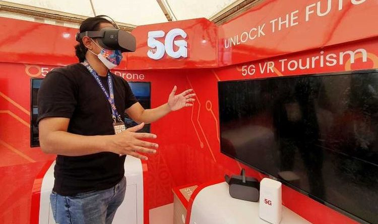 Telkomsel 5G network experience in Papua during PON XX, you can try VR Travel