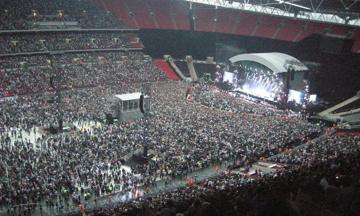 Wembley Stadium rempli pour un concert
